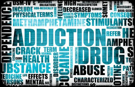 substance abuse: Blue Drug Addiction Dangers Grunge As a Concept