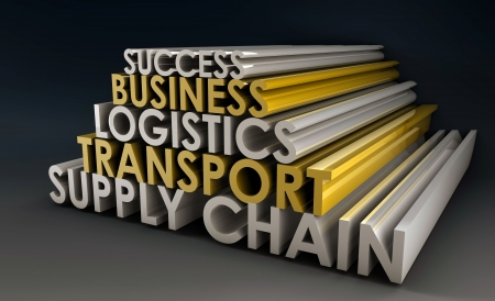 scm: Supply Chain Business Logistics in 3d Focus Stock Photo