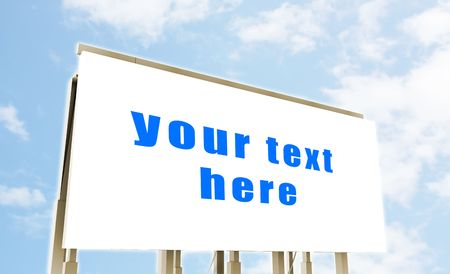 Blank Signboard With Blue Clouds As Background Stock Photo - 5349229