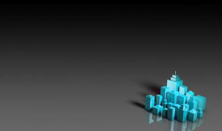 Abstract Cityscape Presentation Background in 3d photo