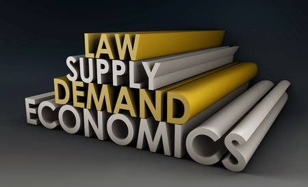 Economics Law of Supply and Demand Background photo