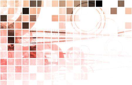 財源: ビジネス背景アートとして抽象的なテクノロジー