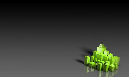 Green Environment Friendly 3d City as Background photo