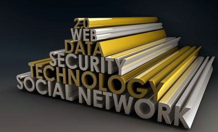 Social Network Online Web 2.0 in 3d Stock Photo - 5349896