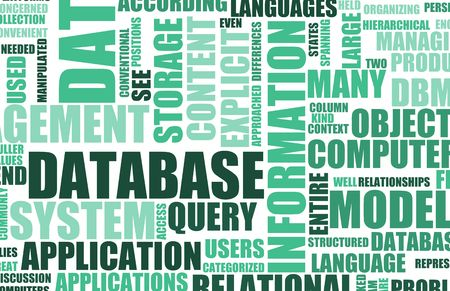 terminology: Blue Database Server as a Art Background