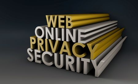 Web Online Privacy Security Protection in 3d Stock Photo - 5367996