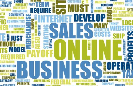 Online Business Set Up Home Website Art Stock Photo - 5368000