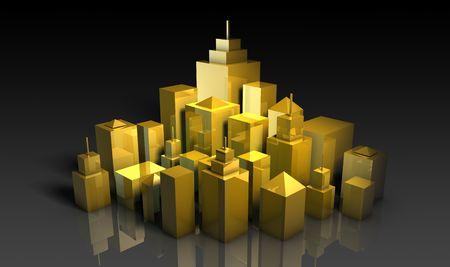 Desarrollo Urbano de los proyectos de concepto de arte en 3D Foto de archivo - 5386311