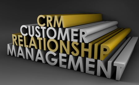 Customer Relationship Management CRM in 3d Art Stock Photo - 5393455