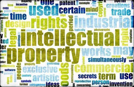 intellect: Propriet� Intellettuale Concept Word Cloud as Art Archivio Fotografico