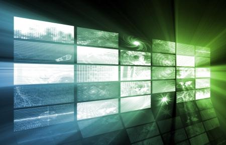 video production: Futuristic Web Cyber Data Grid Color Background Stock Photo
