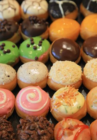 sinful: Mixed Donuts with Toppings and Flavors Icing