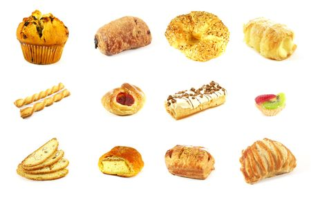 custard: Different Assorted Pastries as a Set Collection