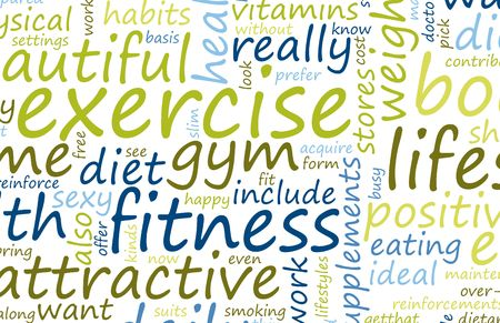 Health and Fitness List as Abstract Background photo