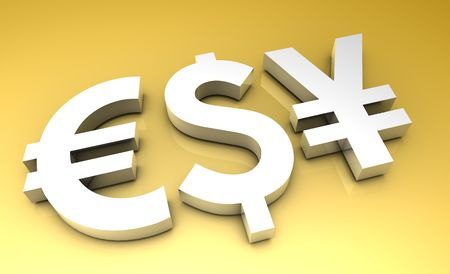 foreign currency: Global Currencies in 3d Premium Art Background