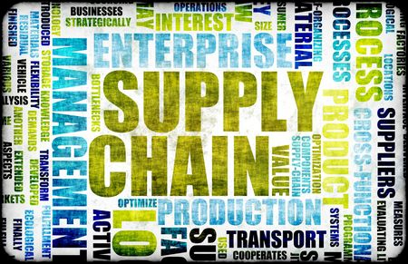 Supply Chain Management Background as Design Art Stock Photo - 5419537