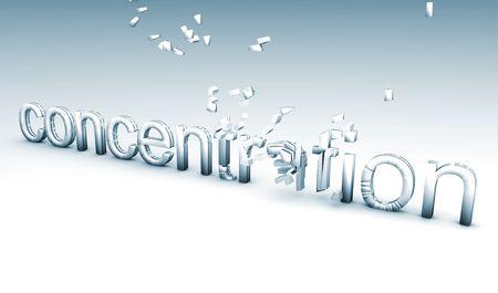 wanorde: Concentratie Creative Concept als een 3D-Art