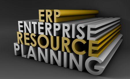 Enterprise Resource Planning ERP 3d Concept Art Stock Photo - 5423342