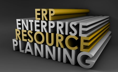 Enterprise Resource Planning ERP 3d Concept Art Stock Photo - 5423342