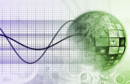 Information Technology Graph as a Art Background Stock Photo - 5423353