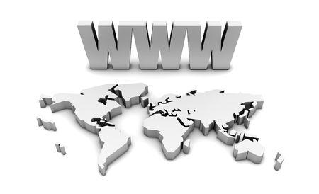 WWW World Wide Web Internet Online in 3d photo