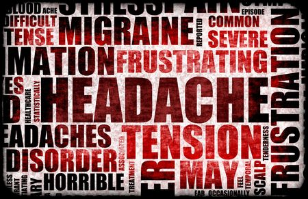 splitting up: Severe Headache Medical Condition as a Background Stock Photo
