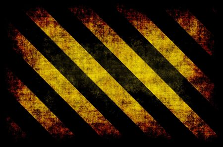 warned: Black Yellow Hazard Stripes as Grunge Background