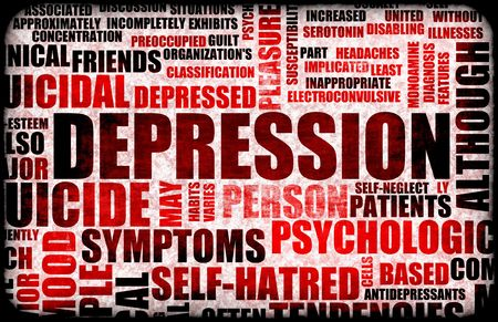 depression: Severe Depression Medical Mental State Background
