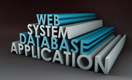 Web Application Database System in 3d Background photo