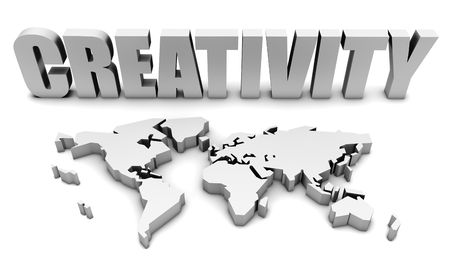 Creativity All Across the World in 3d Stock Photo - 5433777