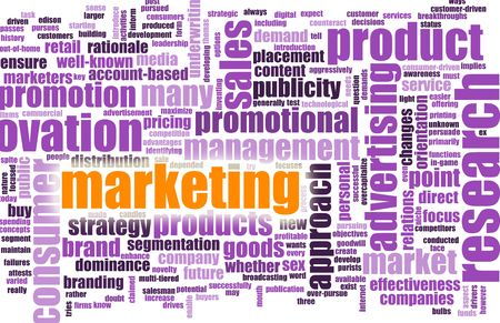 terminology: Marketing Terminology as a Abstract Background