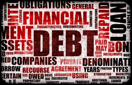 Financial Debt as a Abstract Background Concept Stock Photo - 5436991