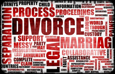 proceedings: Divorce Marriage Process and the Ugly Truth Stock Photo