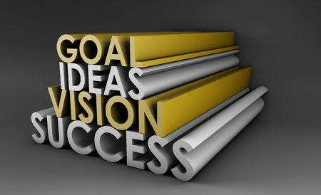 Vision Success From Goal and Idea in 3d Stock Photo - 5437017