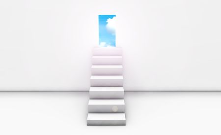 Stairway to Heaven in 3d Concept Background Stock Photo - 5437008