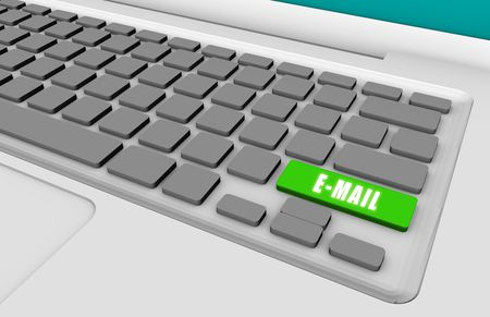 Easy Email with a Green Keyboard Button photo