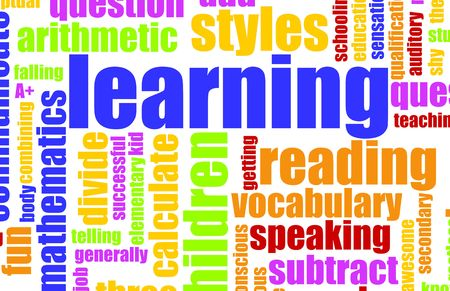 Learning is Fun Vocabulary Elementary School Art Stock Photo - 5436617