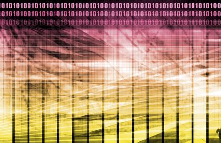 Purple Data Network Internet Tech Abstract Art Stock Photo - 5473347