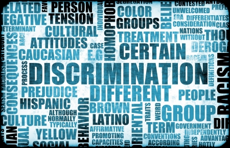issues: Discrimination Creative Concept Grunge as a Art Stock Photo