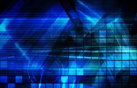 Blue Corporate Presentation Art As a Background Stock Photo - 5476695