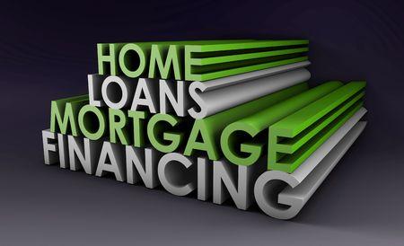 Home Loans Mortgage Financing-Konzept in 3D