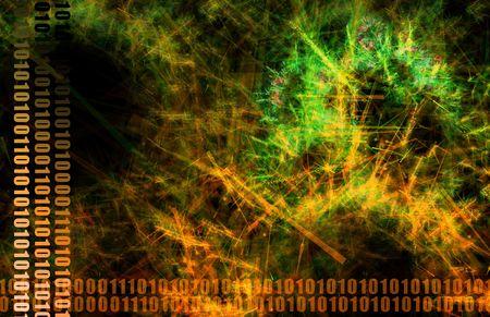 infotech: Orange World Wide Web Abstract Background Art