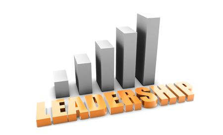 Leadership in 3d With Business Graph Chart Stock Photo - 5501925