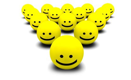 Shiny Happy People Smiling Faces in 3d Stock Photo - 5501893