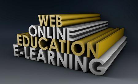 educativo: Educación en línea o de la educación a distancia en 3d