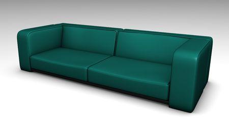 blue leather sofa: Blue Leather Sofa in 3d Mobili ILLUSTRAZIONE