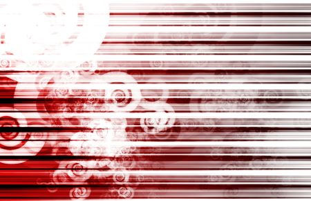 Red Data Network Internet Tech Abstract Art photo