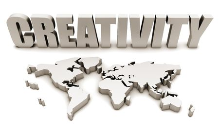 Creativity All Across the World in 3d Stock Photo - 5501964