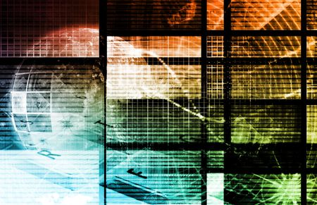 Orange Computer Technology as Backdrop with Lines Stock Photo - 5501963