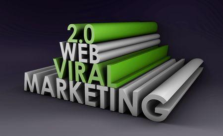 Web 2.0 Viral Marketing Method Online in 3d Stock Photo - 5501977